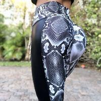 Frauen Eignungs Gamaschen Turnhallen Yoga Hosen Taillen Trainings Hose Legg WR