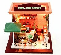DIY Handcraft Miniature Project Kit My Little Coffee Bar in Paris Dolls House