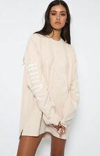 FENTY Rihanna PUMA Authentic Graphic Lace Pink Tint Oversized Top Sz M NWT $150
