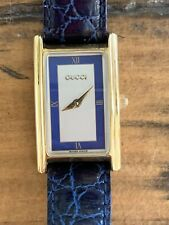 19.4g Authenticated Gucci Woman's Blue Leather Wrist Watch 2600L Excellent