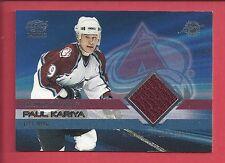 2004-05 PAUL KARIYA PACIFIC AUTHENTIC GAME WORN JERSEY CARD