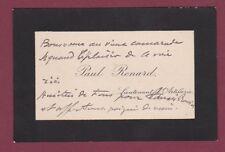 MILITARIA carte de visite Paul RENARD Lieutenant d'Artillerie
