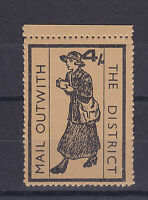 1971 STRIKE MAIL MAIL OUTWITH THE DISTRICT POSTAL SERVICE 4/- MARGIN STAMPS MNH