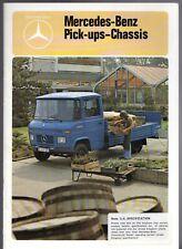 Mercedes-Benz L407D L409 L508D L608D Pick-Up & Chassis 1978-9 UK Market Brochure