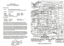 """1/12 Scale Lockheed Sirius (43"""")   RC Plans,Templates and Instructions"""