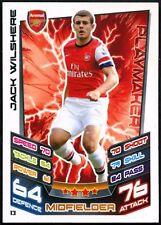 JACK Wilshere Arsenal #13 TOPPS MATCH ATTAX FOOTBALL 2012-13 TRADE card (C440)