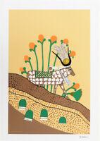 Mireille Kramer Israeli Vintage 1979 Silkscreen Art Print 23 x 16