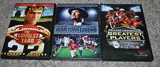 DVD Movie LOT Longest Yard Hometown Legend NCAA Football Greatest Players Sports
