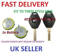 REPLACEMENT RECHARGEABLE BATTERY FOR BMW 3 5 SERIES E46 E39 3 BUTTON REMOTE KEY