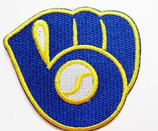 LOT 0F (1) MLB MILWAUKEE BREWERS EMBROIDERED MITT & BALL LOGO ITEM # 61