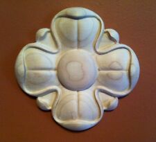 "Hand Carved Hardwood Applique Rosette  5-1/2""D X 3/4""Thick"