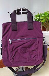 KIPLING #ELEVA Convertible Tote Bag in Dark Plum Color