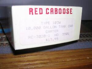 Red Caboose #RC-3020-1  Carter 10,000 Gallon Tank Car #5501 KIT H.O.1/87