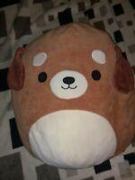 "Squishmallows Sam 16""  Puppy Dog Brown Plush Squishmallow No Ear Tag 2018"