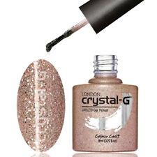 HOLOGRAPHIC GLITTERS NAIL UV LED GEL POLISH by CRYSTAL-G  * E36 SANDY SAHARA *