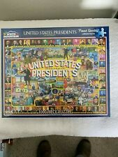 WHITE MOUNTAIN US PRESIDENT PUZZLE INCLUDES PRESIDENT TRUMP 1000 PCS NEW SEALED