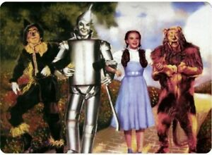 Wizard of Oz 4 Characters On The Yellow Brick Road metal sign 305mm x 205mm (sf)