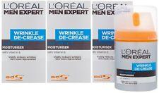 3 x 50ml LOreal Men Expert Wrinkle De-Crease Anti-Wrinkle Moisturiser