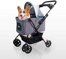 Ibiyaya Dog Carriage Stroller for Small, Medium Dogs, Cats with Sun Canopy