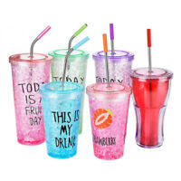 4Pc/set Home Stainless Steel Straw Reusable Metals With Silicone Tip Clean Brush