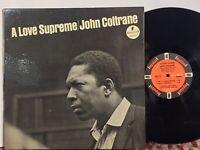 John Coltrane A Love Supreme VG IMPULSE ORANGE ORIG STEREO VAN GELDER TESTED!