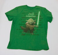 Disney Store Yoda Jedi Master Green Men's XL Tee Shirt