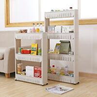 Slim Slide Out Storage Rack Organiser Kitchen Bathroom Space Saver Roll Trolley