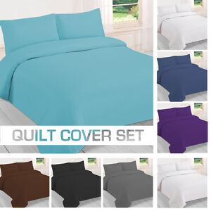 NEW Single/KS/Double/Queen/King/Super King Size Bed Quilt/Duvet Cover Set