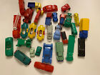 VINTAGE LOT OF 30 IDEAL PLASTIC VEHICLES-UNBRANDED- CARS, TRUCKS, EQUIPMENT