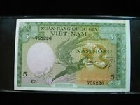 Vietnam South 5 Dong 1955 Viet Nam 226# Bank Currency Money Banknote