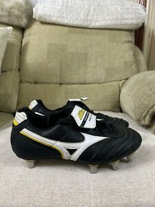 Mizuno Retro Black SG Rugby Boots Size 6uk Men's With Spare Studs