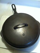 "Griswold ""Iron Mountain Series"" # 8 Chicken Fryer w/ Matching Lid - Restored"