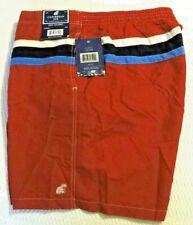 New listing Caribbean Joe Men's Red with Blue, White and Dark Blue Striped Swim Trunks XXL