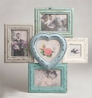 Large Multi Wooden Heart Photo frame 5 Picture Delilah range by Sass & Belle