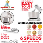 6 Speed Machine Electric Stand Mixer Kitchen Dough Bread Cake Cooking Baking NEW