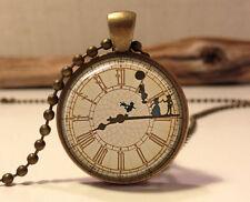Peter pan Necklace .Peter Pan Jewelry. Peter Pan art pendant jewelry