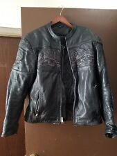 Reflective Skulls Armored Motorcycle Jacket size m. Leather with liner.