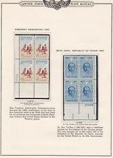 New ListingUnited States Plate Blocks #1187 & 1188, mint, see notes below, 1961