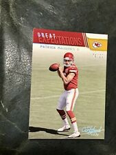 2017 Certified Cuts Patrick Mahomes RC SILVER /99 Rookie Great Expectations SSP