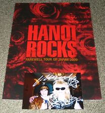 Hanoi Rocks JAPAN 2009 tour book + SIGNED Andy & Mike AUTOGRAPHED PHOTO!