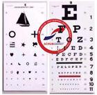 USA Snellen & Kindergarten / Children Eye Exam Test Wall Charts SET 2 Pack ECWSK