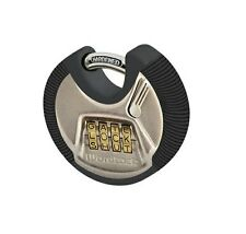 Wordlock Stainless Steel Combination High Security 4 Dial Discus Lock #PL-074-SN