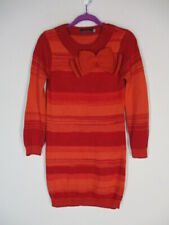 Catimini Orange/Red Bow Knit Sweater Dress   6  116