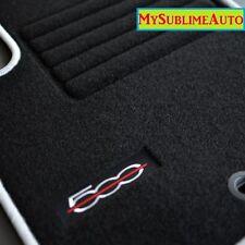 Tapis De Sol Fiat 500 Coupé Cabriolet De 2007 à 2013 Logo Brodé Velours NEUFS