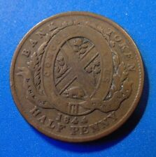 1844 Province of Canada half 1/2 penny copper BANK of Montreal BMO token