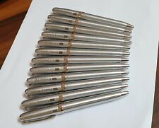 Lot of 12 Pc Sheaffer Prelude Stainless Steel Ball Pen