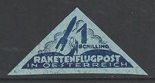 1933 AUSTRIA Friedrich Schmiedl rocket mail stamp - 1 SC. triangle - 18A1