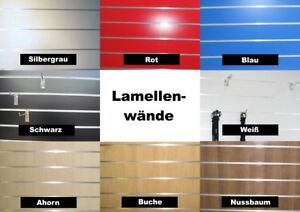 hochwertige stabile Lamellenwände Lamellenwand MDF Paneele Platten Slatwall NEU