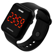 Wasserdicht Armbanduhr Silikon Herren Damen Kinder Uhr Sportuhr Digital Quarzuhr