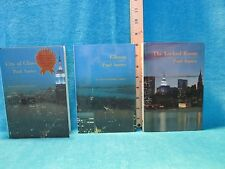 RARE 3 BOOK SET New York Trilogy SIGNED by Paul Auster Sun & Moon Press hc 1sts